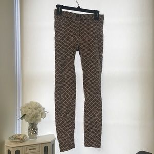 Patterned Skinny Pants